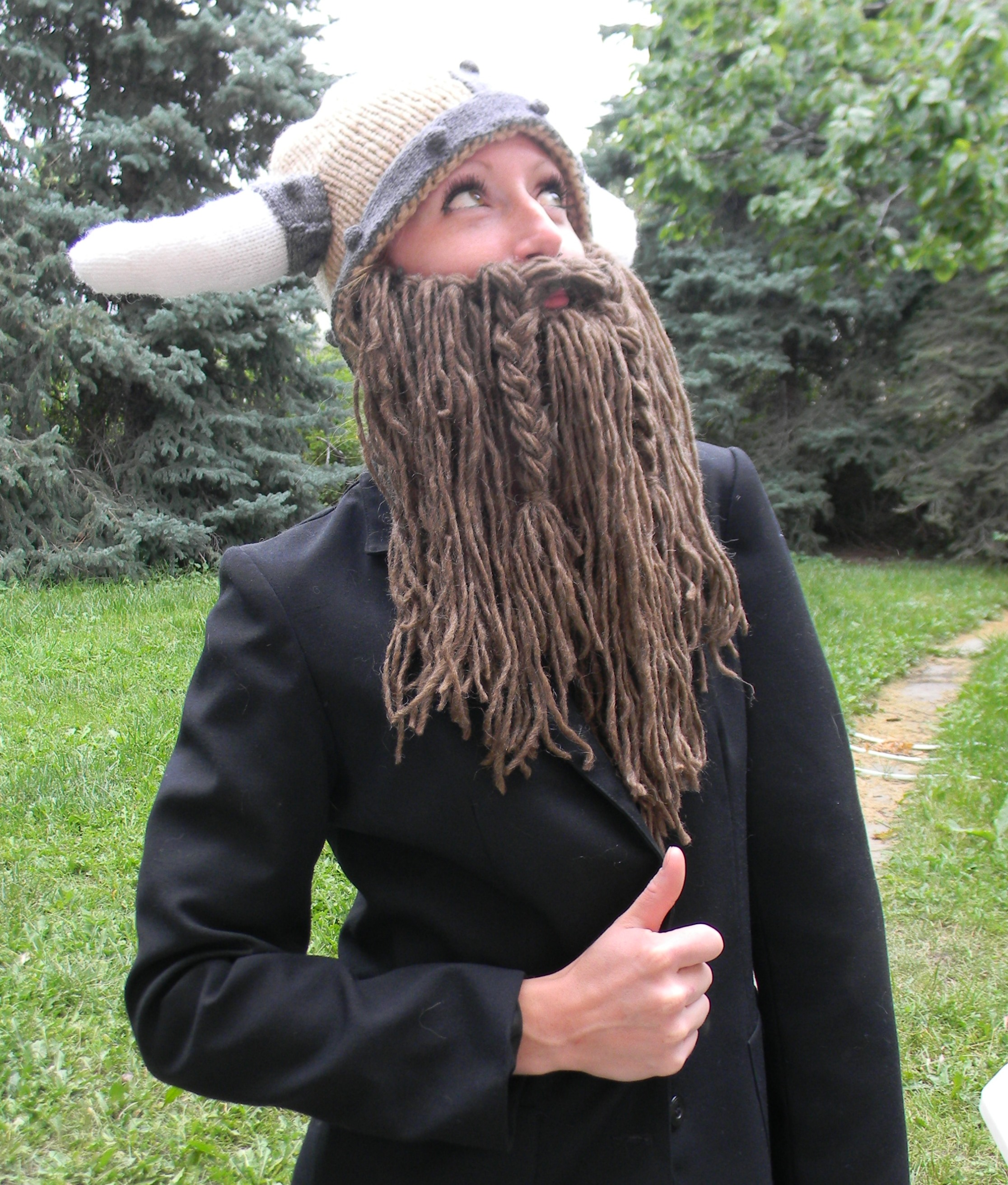 Knitting Patterns For Viking Hat : Beared Viking Helmet Pattern   Released! SillyLittleLadys Space