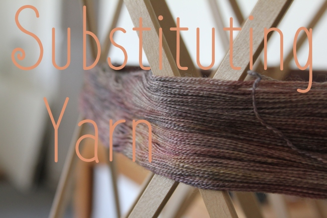 Substituting Yarn